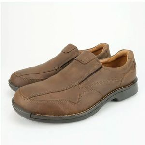 ECCO Fusion Cocoa Brown Leather Slip On Loafers